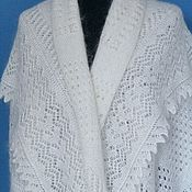 Аксессуары handmade. Livemaster - original item 221 Orenburg downy shawl white openwork accessories shawl stole. Handmade.