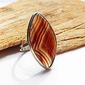 Украшения handmade. Livemaster - original item Ring with Red agate line size 18. Handmade.