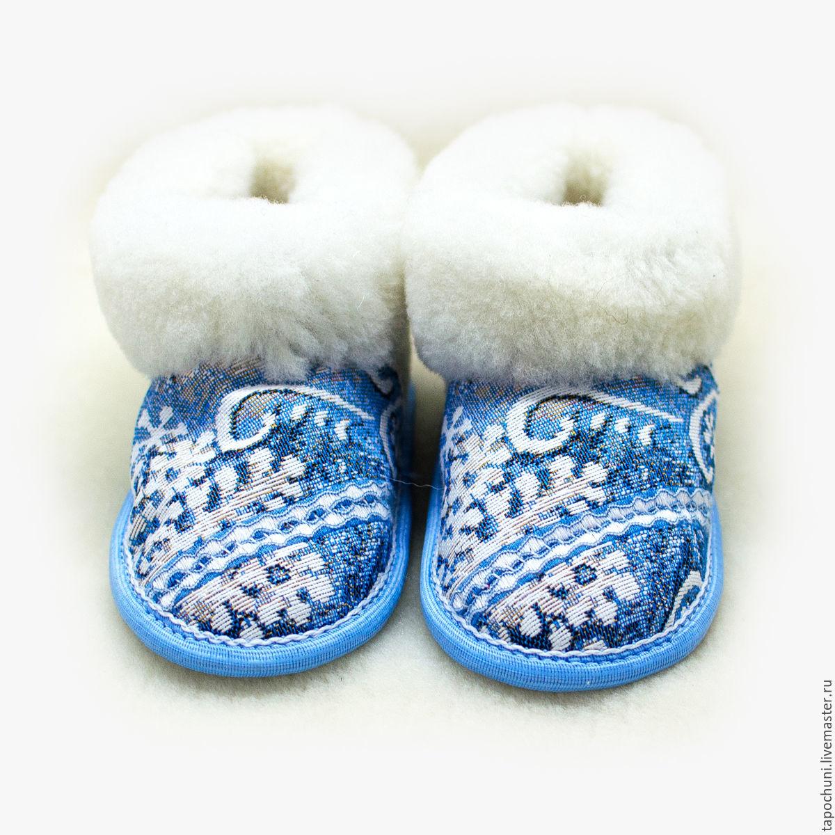 Детские чуни из овчины Снежинка, Детская обувь, Лермонтов, Фото №1