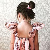 """Работы для детей, ручной работы. Ярмарка Мастеров - ручная работа Платье с крыльями """"Bunny"""". Handmade."""
