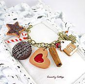 """Украшения ручной работы. Ярмарка Мастеров - ручная работа Браслет """"Новогоднее печенье"""". Handmade."""