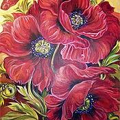 Картины и панно handmade. Livemaster - original item Picture Poppies Bouquet of Poppies Red Poppies Poppy Bouquet Flowers. Handmade.