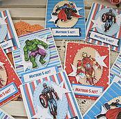 """Открытки ручной работы. Ярмарка Мастеров - ручная работа Приглашение на день рождения """"Мстители"""". Handmade."""
