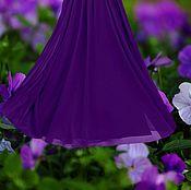 """Одежда ручной работы. Ярмарка Мастеров - ручная работа Миди юбка шифоновая """"Фиолетовый вечер"""". Handmade."""
