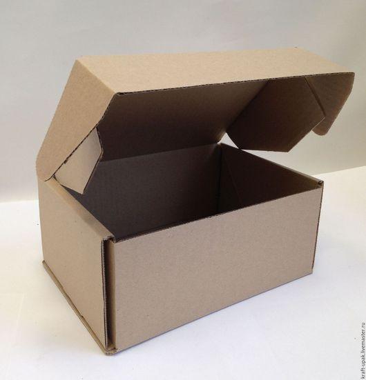 Упаковка ручной работы. Ярмарка Мастеров - ручная работа. Купить Коробка 22х16,5х10 самосборная. Handmade. Натуральный, коробка для хранения