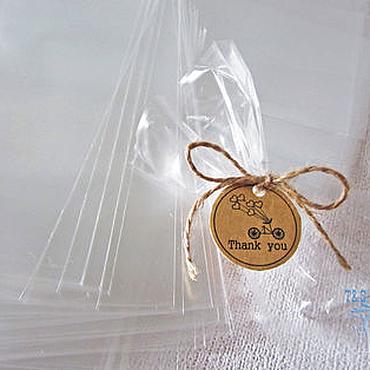 Материалы для творчества ручной работы. Ярмарка Мастеров - ручная работа Прозрачные пакеты 13х20, 100 шт, пп, без клапана, под завязку, купить. Handmade.