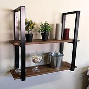 Для дома и интерьера handmade. Livemaster - original item Double wall shelf in loft style. Handmade.