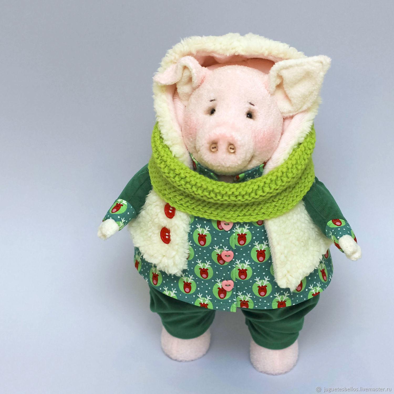 Игрушка Поросенок. Хрюша, свинка, свинья Символ 2019 года, Мягкие игрушки, Москва,  Фото №1