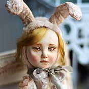 Куклы и игрушки ручной работы. Ярмарка Мастеров - ручная работа тедди-долл Зайчик Мия. Handmade.