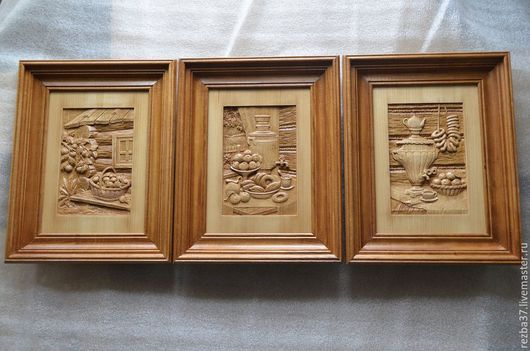 Натюрморт ручной работы. Ярмарка Мастеров - ручная работа. Купить Набор из трех картин для украшения кухни или столовой.. Handmade.