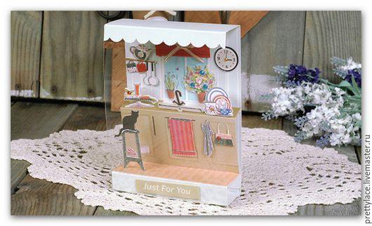 Открытки и скрапбукинг ручной работы. Ярмарка Мастеров - ручная работа. Купить Набор для создания миниатюры ( Кухня ). Handmade.