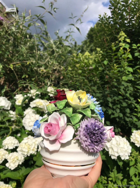 Porcelain composition 'Flower bouquet', England, Vintage Souvenirs, Arnhem,  Фото №1