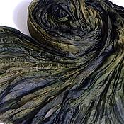 Аксессуары handmade. Livemaster - original item Boho Stole Pareo Batik Elven Forest Natural Silk 100%. Handmade.
