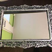 Зеркала ручной работы. Ярмарка Мастеров - ручная работа Зеркало Узорчатое Эмаль, акрил. Handmade.