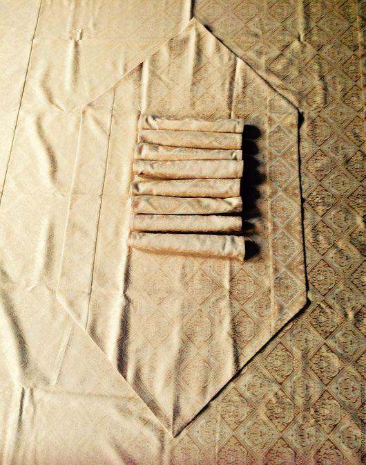 Текстиль, ковры ручной работы. Ярмарка Мастеров - ручная работа. Купить Набор скатерть , дорожка и салфетки ,,Золотой. Handmade.