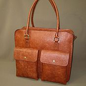Сумки и аксессуары handmade. Livemaster - original item bag. Big red. Genuine Italian leather.. Handmade.