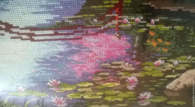 Вышивка японской картины