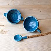 """Посуда ручной работы. Ярмарка Мастеров - ручная работа Набор """" Утренний"""". Handmade."""