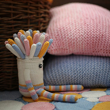 Для дома и интерьера handmade. Livemaster - original item Knitted collection for the room. Carpet, pillows, toy.. Handmade.