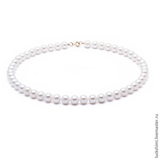 жемчужное ожерелье,  купить жемчужное ожерелье, ожерелье из жемчуга, белый жемчуг