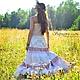Алина Сапогова: Авторская юбка бохо `Травница`. Длинная юбка в славянском стиле. Эксклюзивная длинная летняя юбка Фотограф : Александр Сапогов