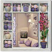 Для дома и интерьера ручной работы. Ярмарка Мастеров - ручная работа Интерьерное панно-зеркало Сирень в стиле прованс. Handmade.