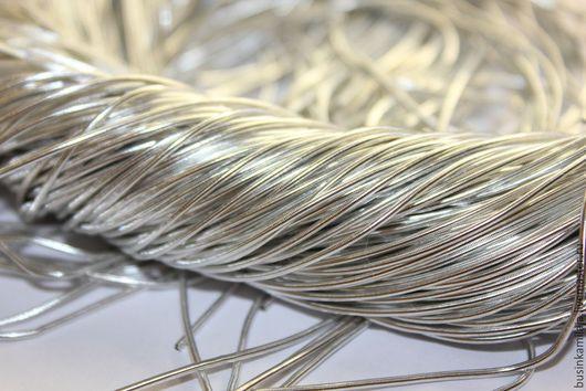 Вышивка ручной работы. Ярмарка Мастеров - ручная работа. Купить Канитель индийская Серебро 1 мм (780). Handmade. Канитель
