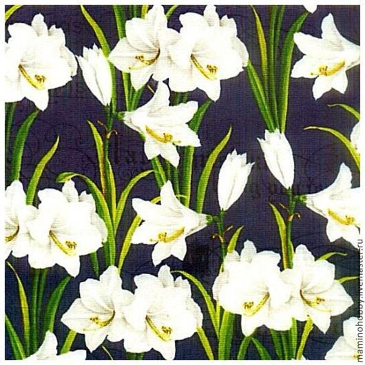 Шитье ручной работы. Ярмарка Мастеров - ручная работа. Купить Ткань хлопок Цветение лилии. Handmade. Пэчворк, лоскутное шитье