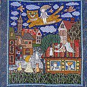 """Картины и панно ручной работы. Ярмарка Мастеров - ручная работа Панно """" Полет над городом ангелов"""". Handmade."""