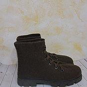 Обувь ручной работы. Ярмарка Мастеров - ручная работа Войлочные ботинки Шоколад. Handmade.
