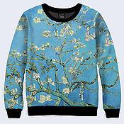 """Одежда ручной работы. Ярмарка Мастеров - ручная работа Женская кофта """"Цветущие ветки миндаля"""" Ван Гог. Handmade."""