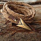 Украшения handmade. Livemaster - original item Leather bracelet ,Bracelet Arrow bracelet for Men. Handmade.