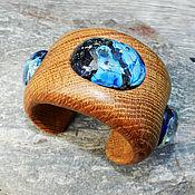"""Украшения ручной работы. Ярмарка Мастеров - ручная работа Браслет из дерева """"Далекие галактики"""" (дуб). Handmade."""