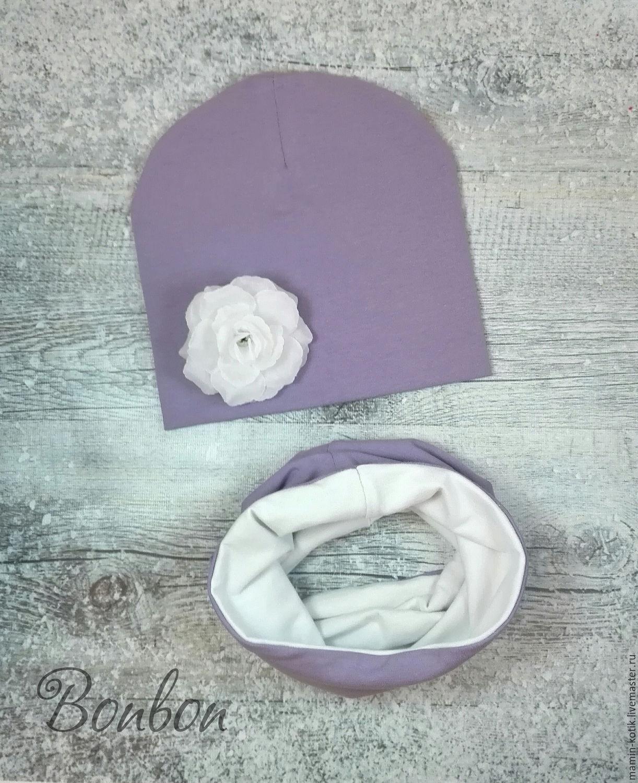Как сшить шапку и снуд из трикотажа в стиле Family Look своими руками 7