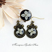 Украшения handmade. Livemaster - original item Jewelry set with real flowers