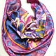 Order batik handkerchief, 'a romantic irises'. OlgaPastukhovaArt. Livemaster. . Shawls1 Фото №3