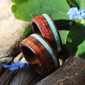 Украшения handmade. Livemaster - original item Copy of Copy of Wooden rings (paduk,garnet ). Handmade.