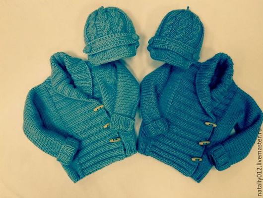 "Одежда унисекс ручной работы. Ярмарка Мастеров - ручная работа. Купить Кофта вязаная  ""Baby Jacket by Debbie Bliss"" Близнецы 2. Handmade."