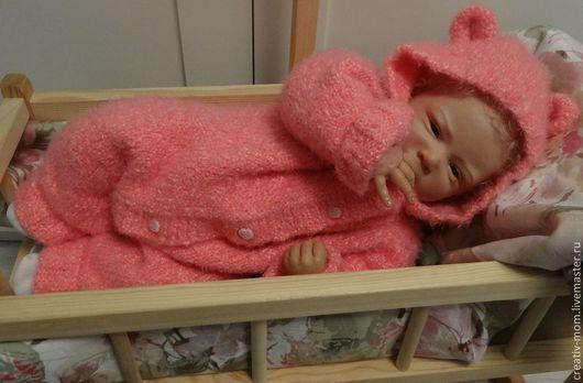 """Одежда ручной работы. Ярмарка Мастеров - ручная работа. Купить Комбинезон """"Лапочка"""" в розовом.. Handmade. Разноцветный, одежда для новорожденных"""