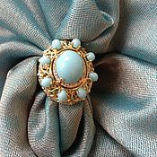 Украшения handmade. Livemaster - original item Sweetest Angel.Gold ring with diamonds and turquoise. Handmade.
