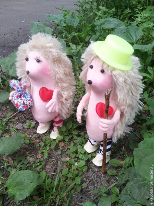 Игрушки животные, ручной работы. Ярмарка Мастеров - ручная работа. Купить Ежики. Handmade. Текстильная кукла, мех, хлопок США