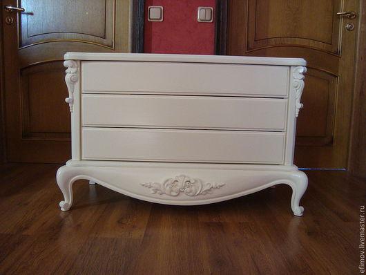 """Мебель ручной работы. Ярмарка Мастеров - ручная работа. Купить Комод """"Прованс"""". Handmade. Белый, Мебель, липа"""