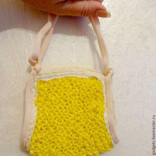 Ванная комната ручной работы. Ярмарка Мастеров - ручная работа. Купить Мочалка-спонж для тела жёлтая, вязаная. Handmade. Желтый