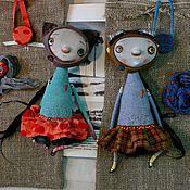 Куклы и игрушки ручной работы. Ярмарка Мастеров - ручная работа Монстродетки  синяя и зеленая. Handmade.