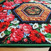 Для дома и интерьера handmade. Livemaster - original item Table napkins quilted Russian Flowers. Handmade.