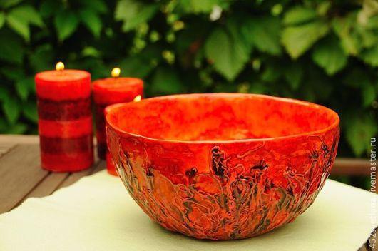 """Салатник """"Огонь"""" Керамика ручной работы. Посуда. Автор Sвеtlana."""