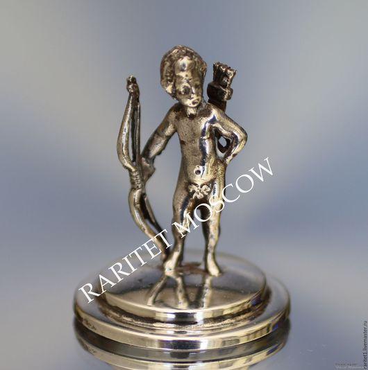 Винтажные предметы интерьера. Ярмарка Мастеров - ручная работа. Купить Ангел амур мальчик фигурка серебро 800 17. Handmade.