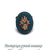 Украшения handmade. Livemaster - original item Embroidered ring Artemis. Handmade.