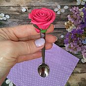 Подарки на 8 марта ручной работы. Ярмарка Мастеров - ручная работа Роза на ложечке. Handmade.