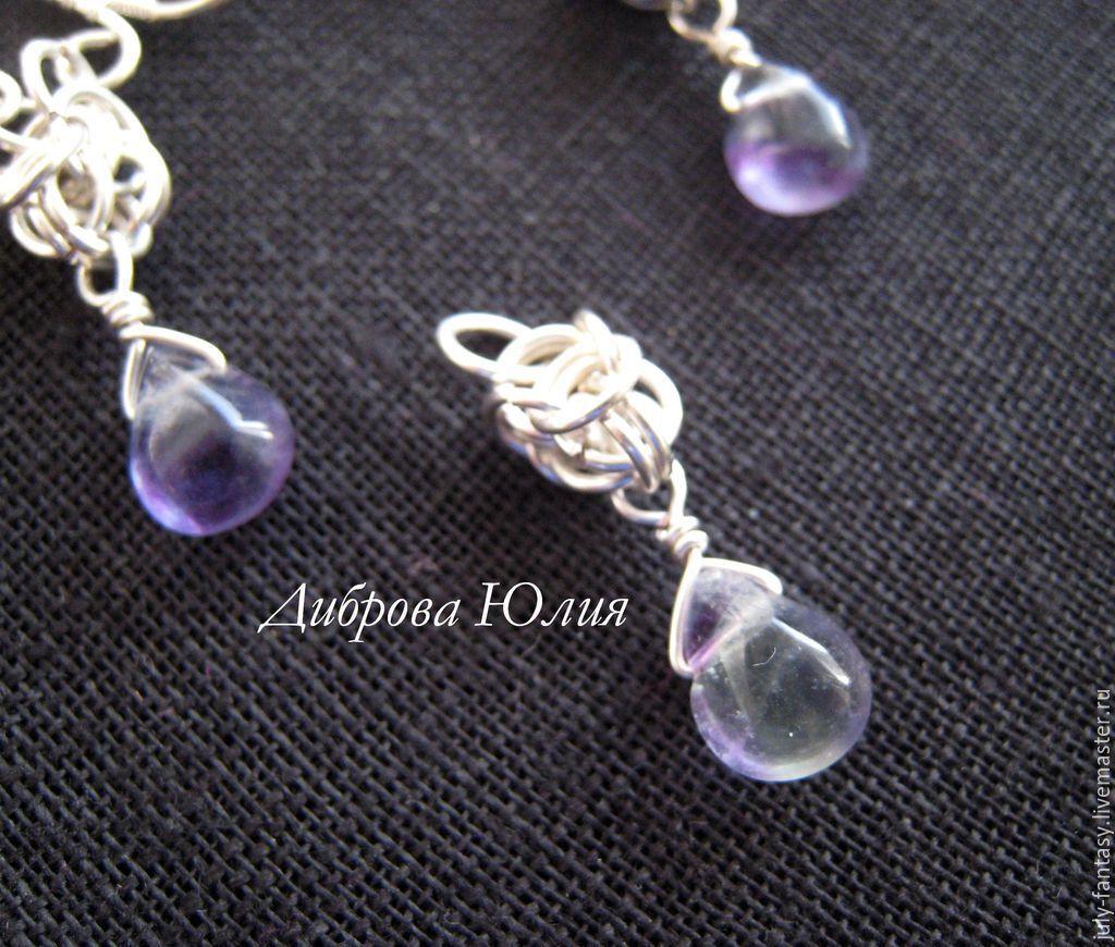 серебряный браслет с камнями женский фото